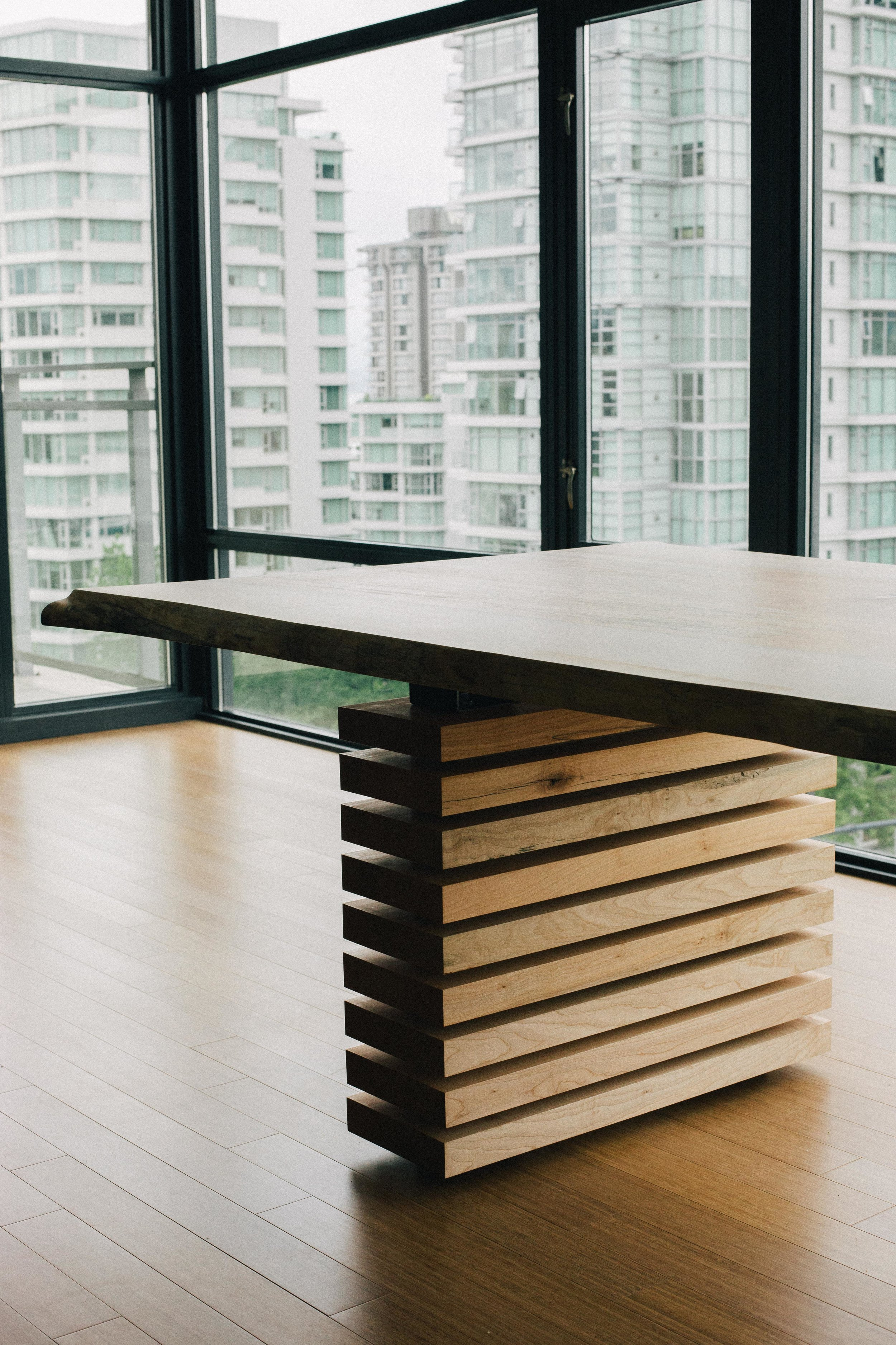 Down Town Residence //Spalted Maple Slab Dining Table