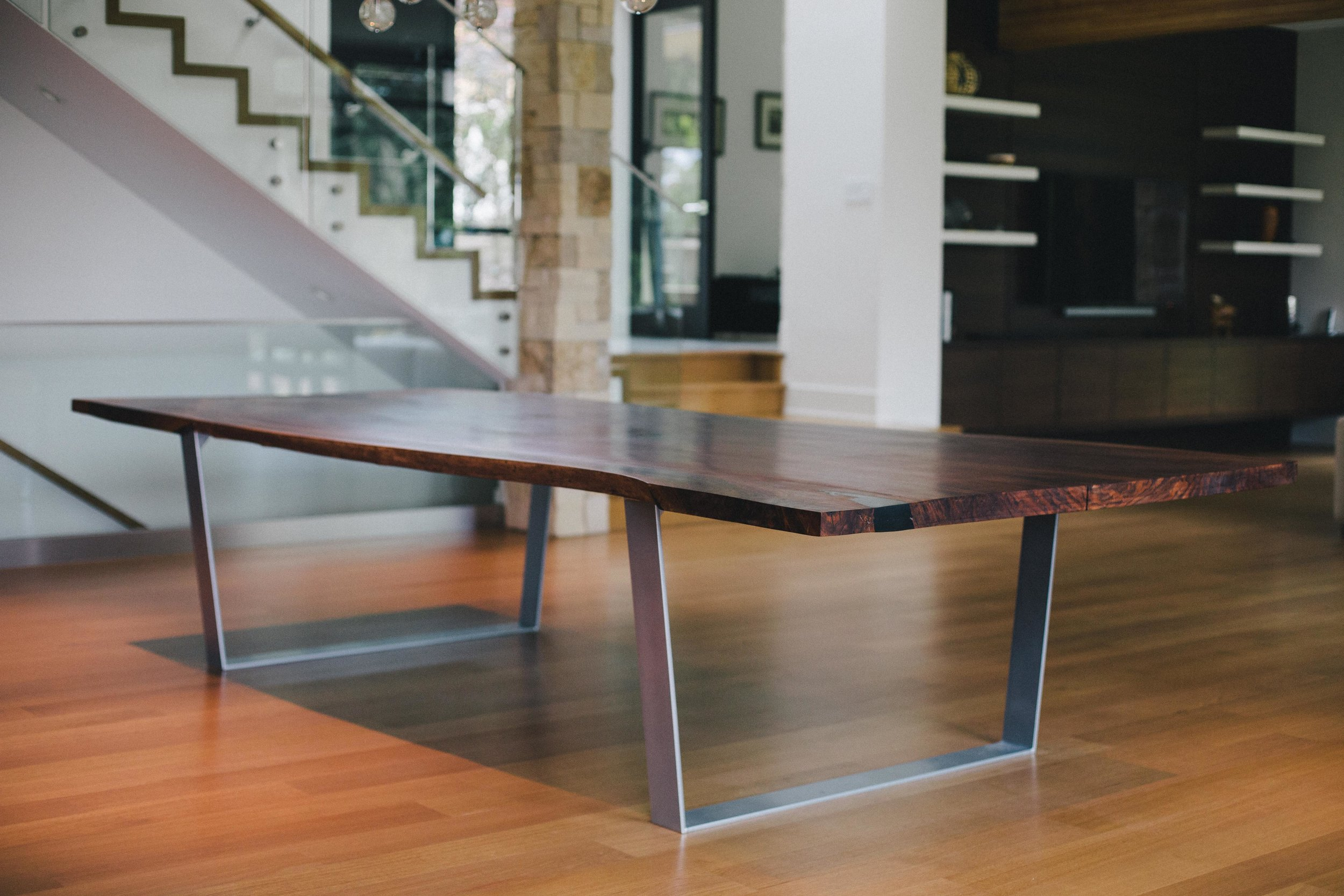 West Vancouver Residence //Claro Walnut Slab Dining Table