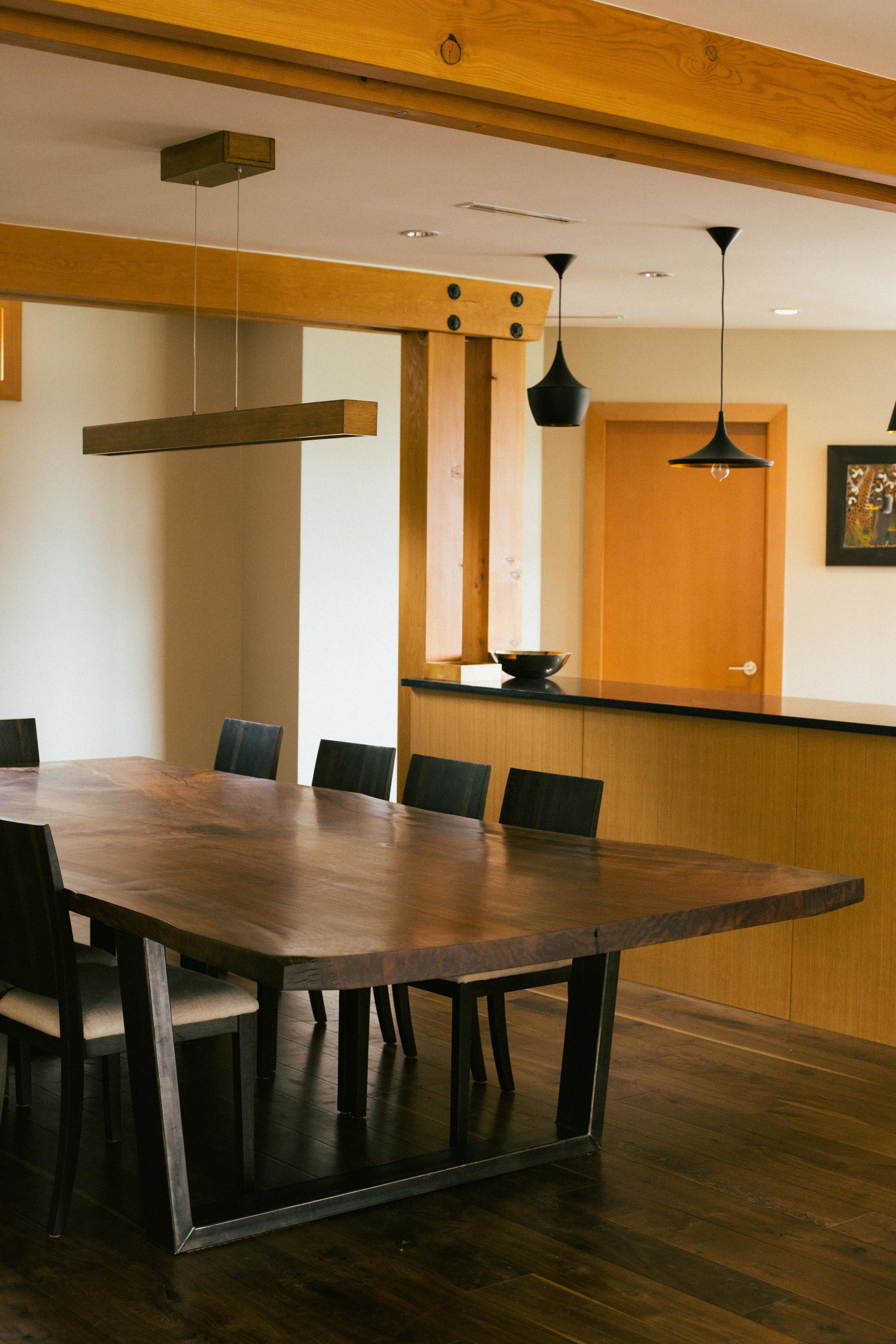 Waterfront Residence //Claro Walnut Slab Dining Table