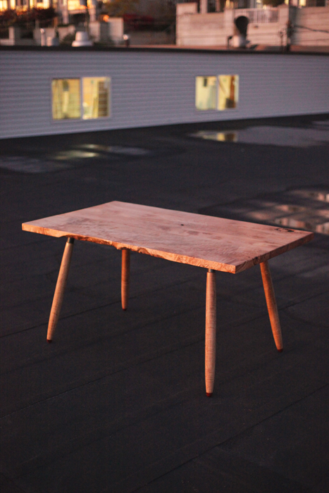 """""""The Mid Size"""" // Figured Maple Dining Table"""