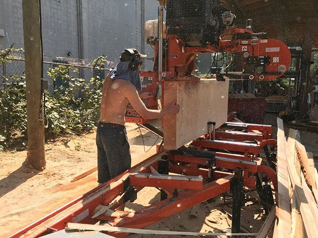 Breaking down custom timber frame orders on the LT50 @woodmizer saw with @maxwhale