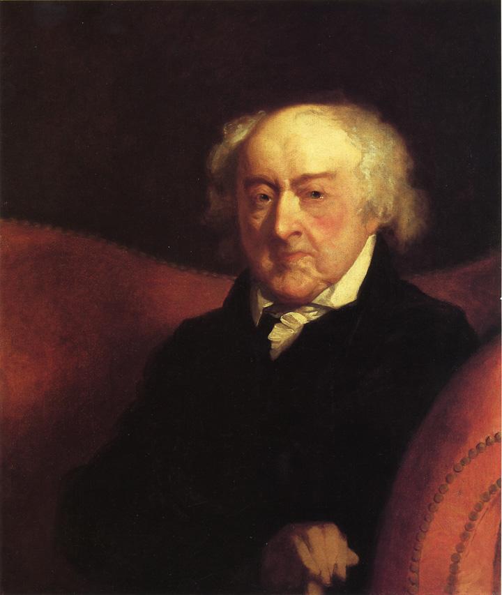 Adams posing for Gilbert Stuart in 1823 when he was 89.