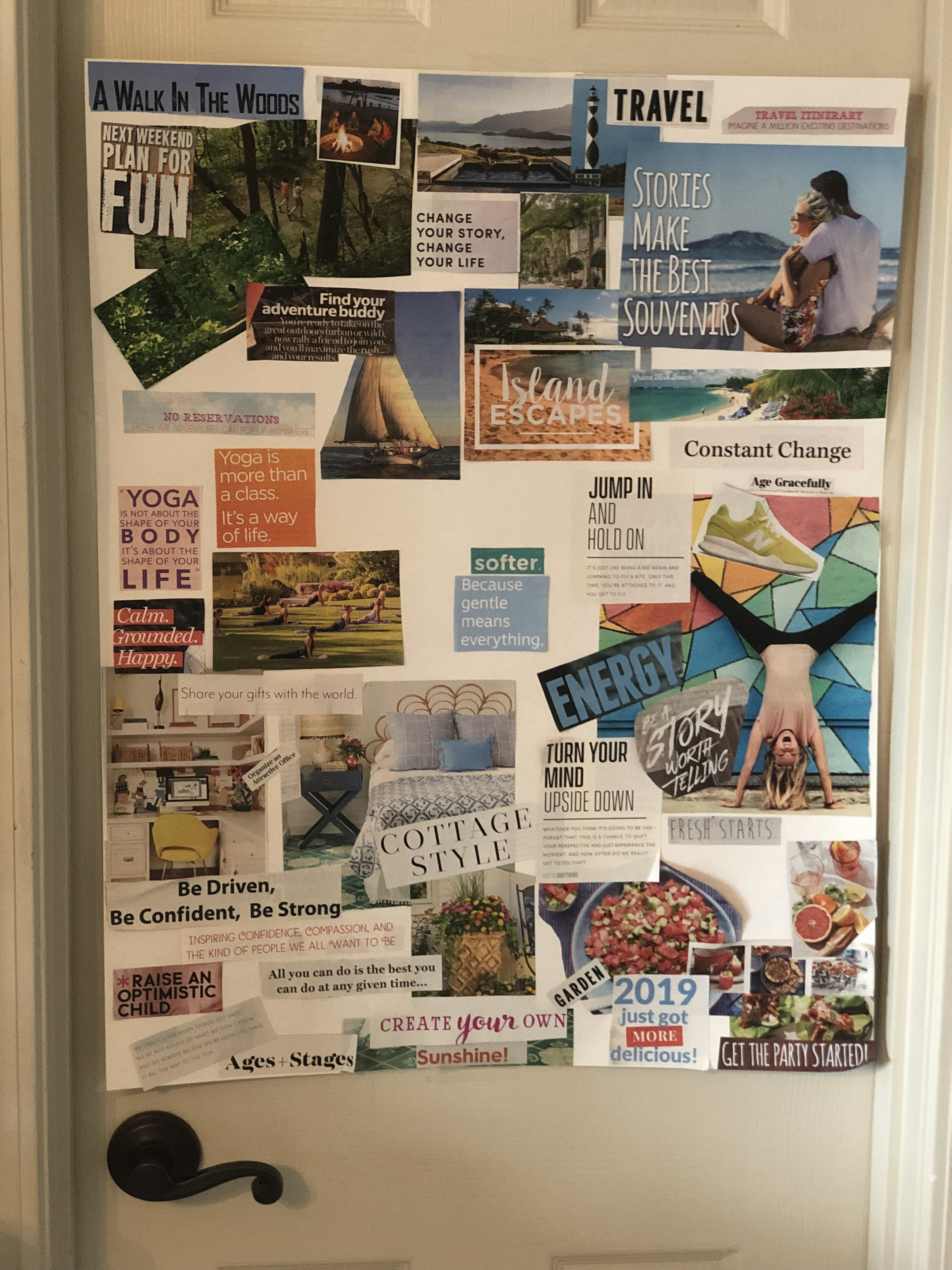 Did I mention how much I LOVE creating a VISION BOARD each year! It is may favorite way to plan for the year, setting goals, visualizing how I can live my best life.