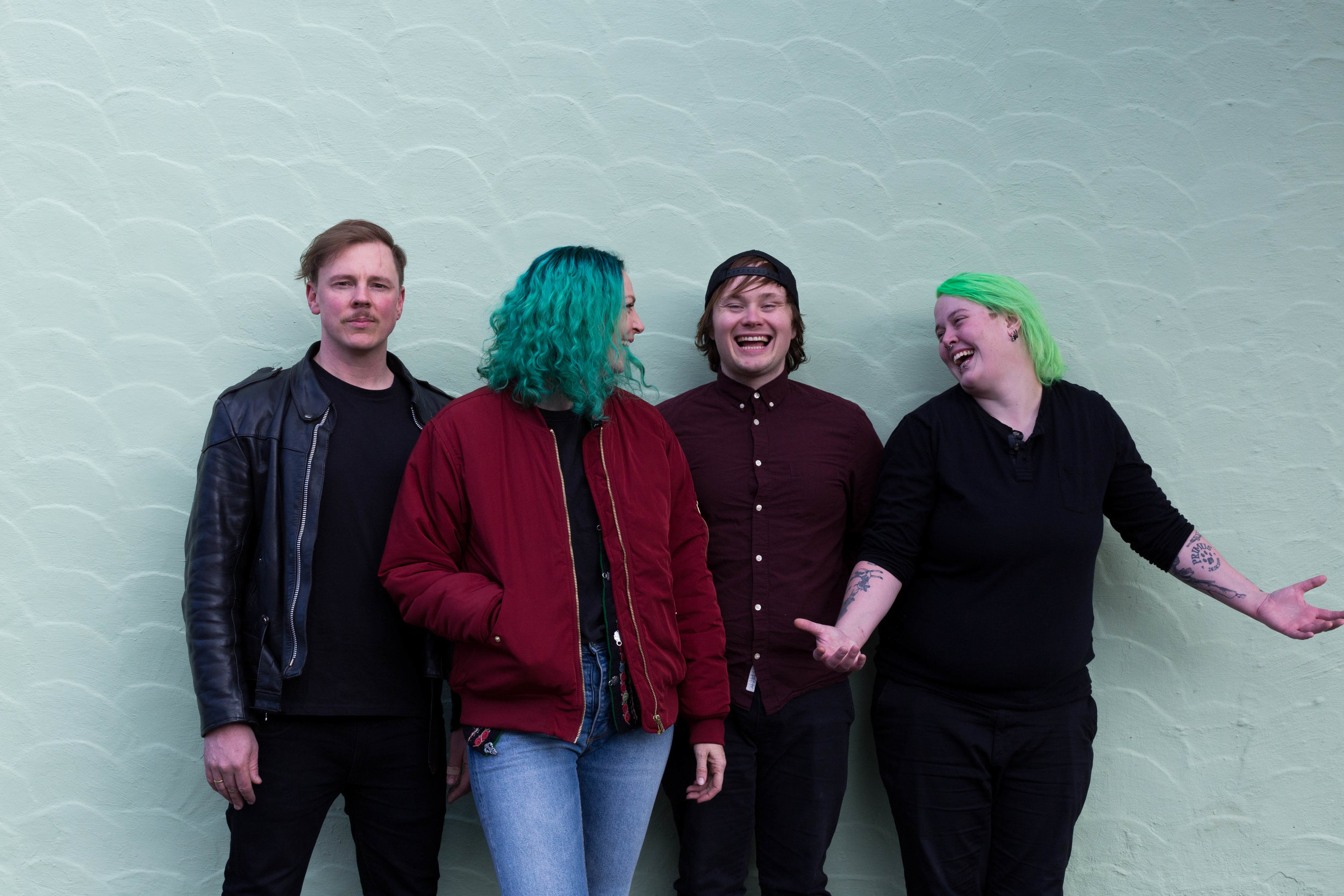 f.v: Rick, Ida, Thore og Linda // Foto: Solfrid Skaret