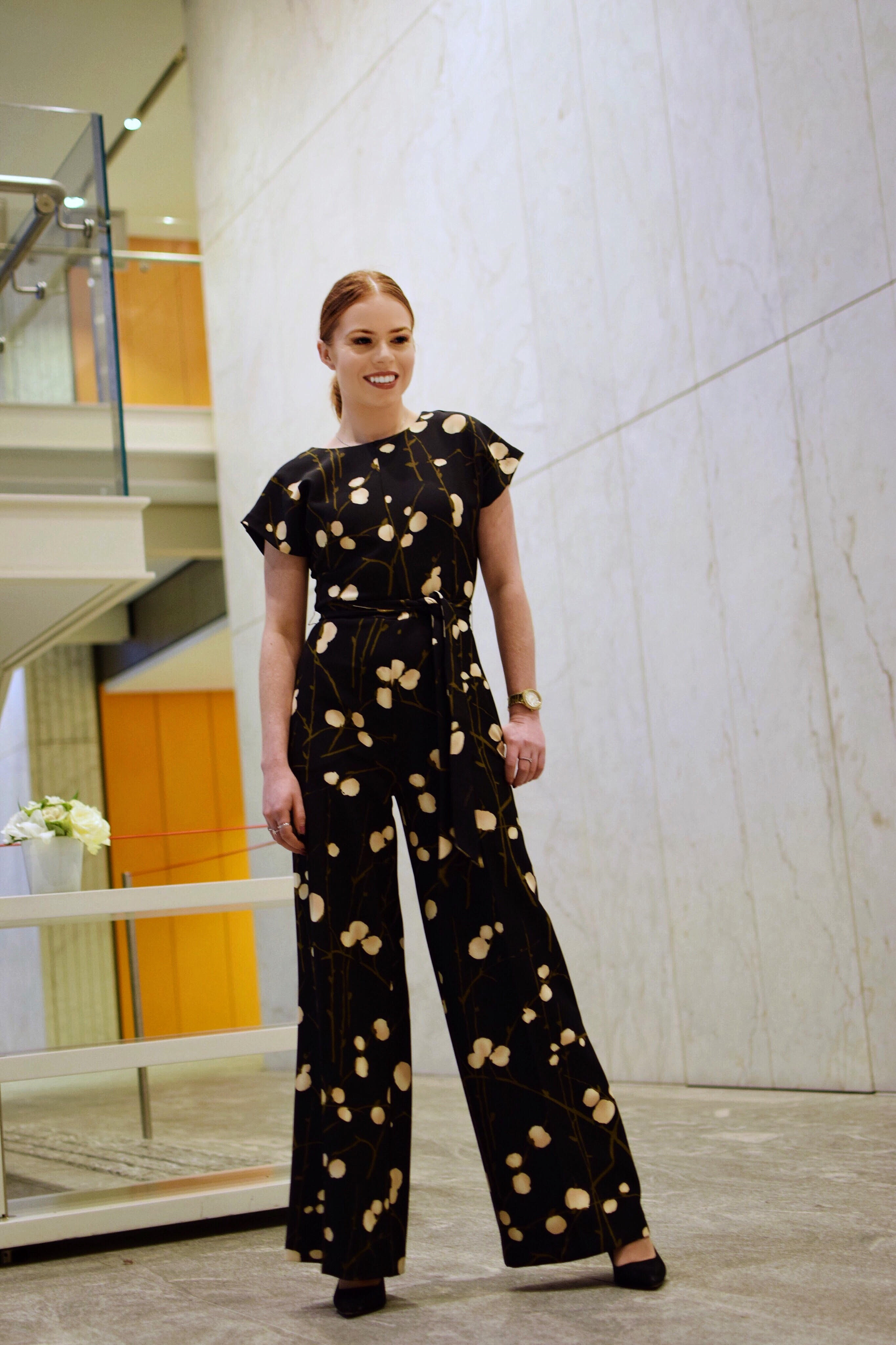 Photos taken in The Shard by Sheena from  The SW Collection  ( @theswcollection ). I'm seriously obsessed with the flared trousers on this jumpsuit.