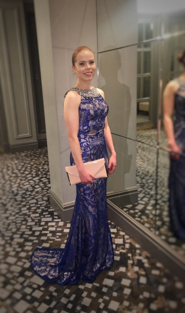 I felt beautiful in Pia Michi from Boudi Fashion (linked below) at the Grovesnor House for the Robert Half black tie event.