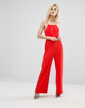 red jumpsuit- ASOS- office fashion