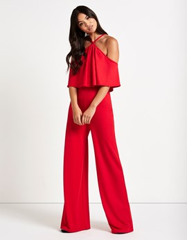 red jumpsuit - lipsy- office fashion blog