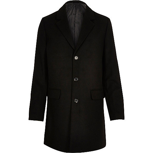 black coat - office fashion - river island