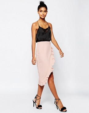 Asos premium tailored pencil skirt with ruffle - office fashion - how to build rapport
