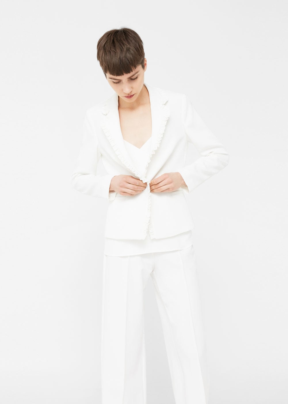 mango structure ruffle blazer - office fashion -  how to build rapport