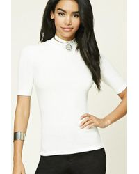 forever 21-ribbed HIGH NECK top- office fashion - how to build rapport