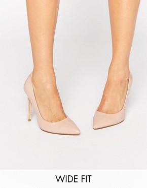 asosFaith Wide Fit Chloe Nude Court Shoes - office fashion - how to build rapport