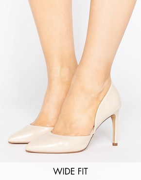 asos Lost Ink Wide Fit Cut Out Nude Court ShoesLost Ink Wide Fit Cut Out Nude Court Shoes - office fashion - how to build rapport