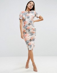 ASOS Wiggle Dress in Wallpaper Floral Print- office fashion