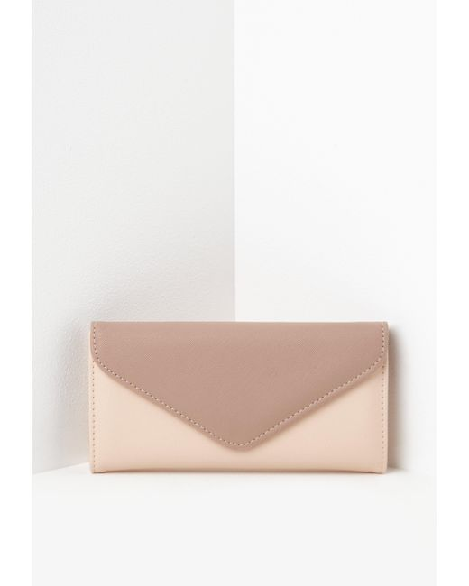 misguided- house of fraser- nude envelope shaped purse