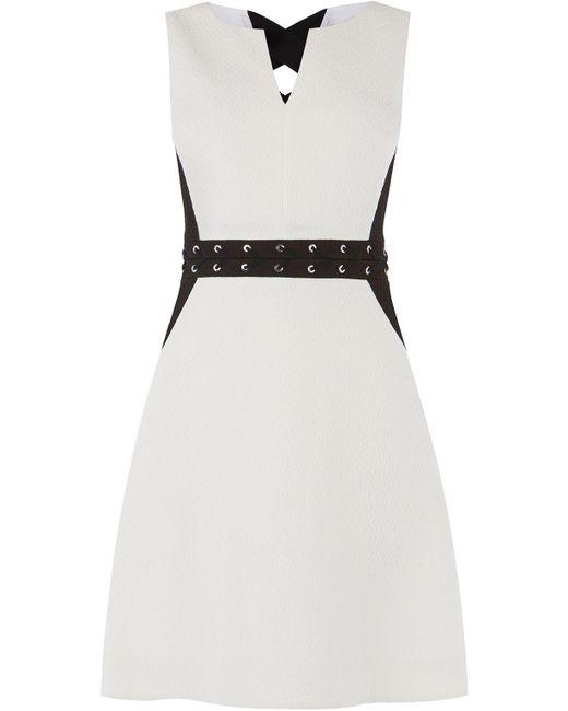 black and white office dress- briar prestidge- karen millen- deals in high heels