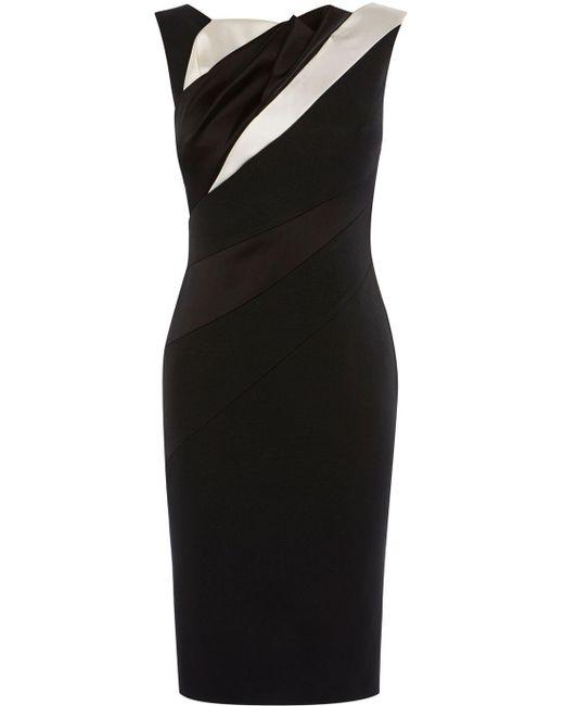 office black and white dress - briar prestidge - deals in high heels - karen millen- Women's Diagonal Seam Pencil Dress - Black & White