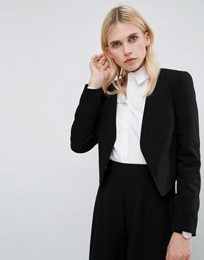 office cropped black blazer - briar prestidge - deals in high heels -ASOS Tailored Crop Blazer