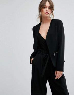 office blazer with zips - briar prestidge - deals in high heels - ASOS New Look Zip Detail Blazer