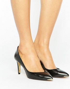 office gold and black court heels - briar prestidge- deals in high heels-Ted Baker Moniira Point Court Shoe