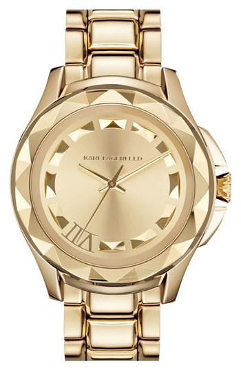 office fashion - briar prestidge- deals in high heels -Karl LagerfeldGold Bracelet Unisex Watch