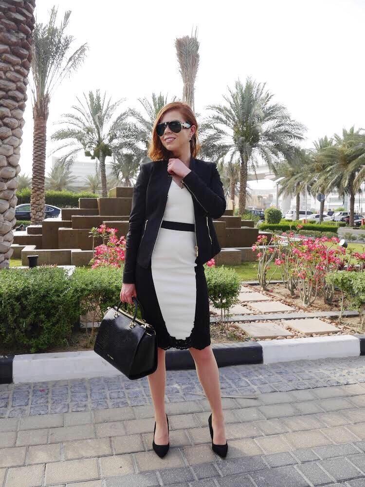 business meeting - briar Prestidge - deals in high heels - black and white office fashion