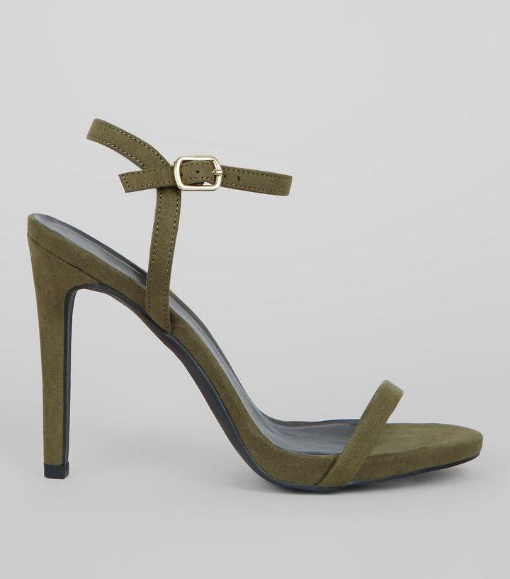 new look -Khaki Ankle Strap Heels- briar prestidge - deals in high heels