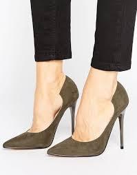 Lost Ink Freya Khaki Curved Court Shoes- asos - briar prestidge