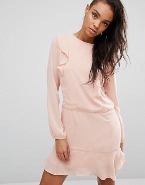 First & I Ruffle Front Dress- Office fashion - briar prestidge - deals in high heels