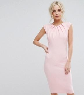 City Goddess Pleat Detail Midi Dress- office fashion - briar prestidge- deals in high heels