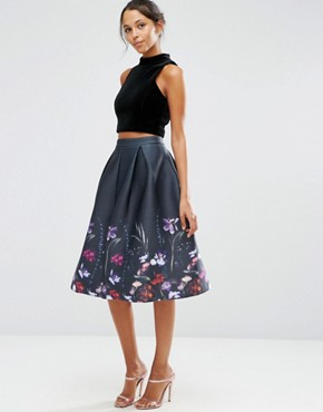 ASOS Prom Skirt in Floral Print - corporate fashion - deals in high heels