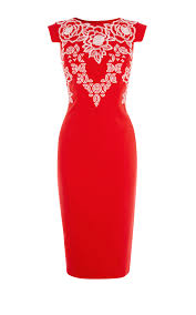 Karen MillenEmbroidered Pencil Dress- deals in high heels - office fashion and corporate lifestyle