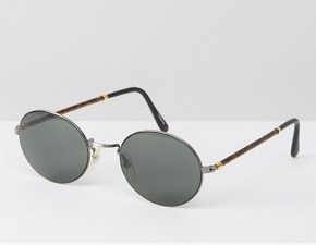 Reclaimed Vintage Inspired Metal Round Sunglasses With Tort Detail