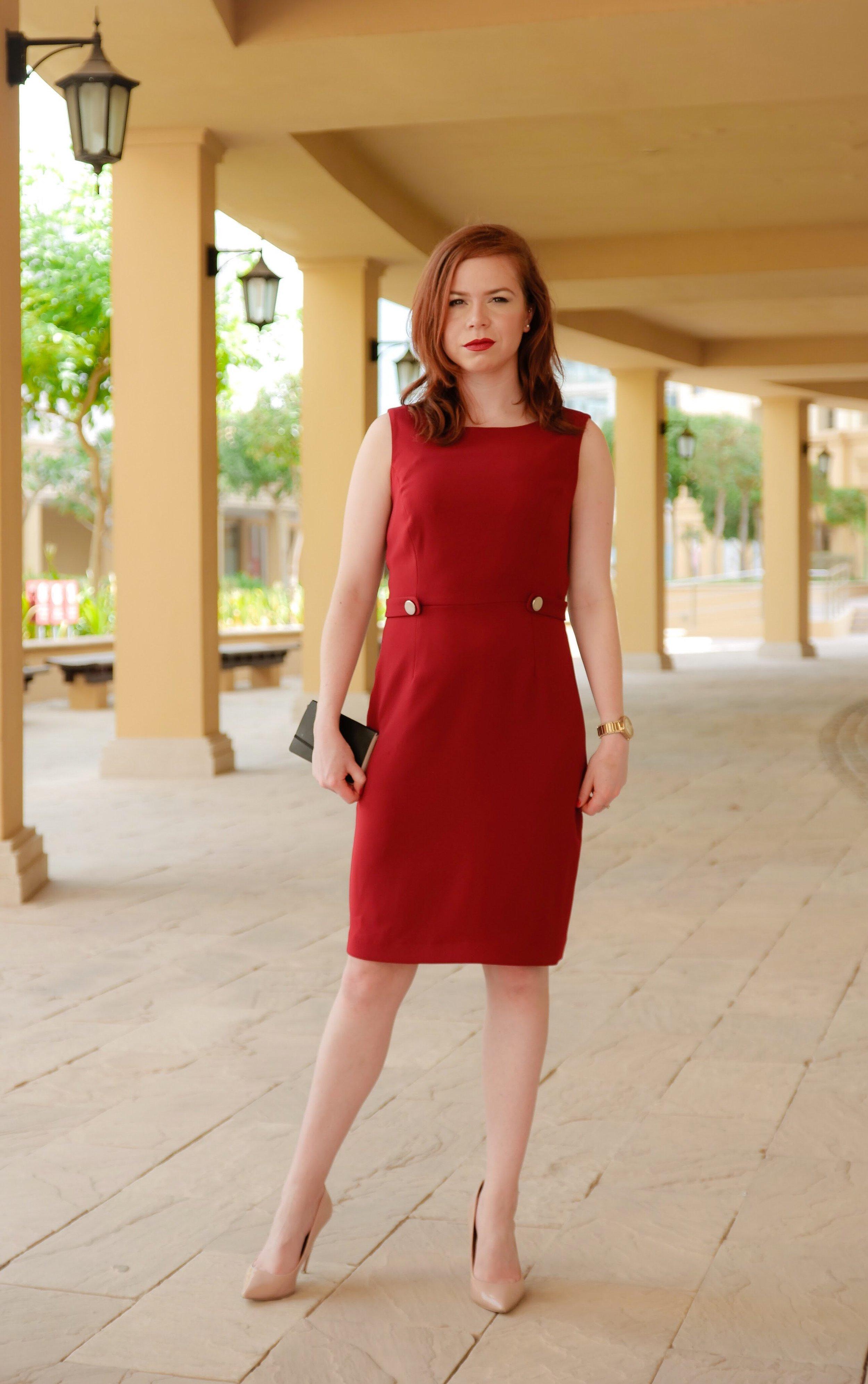 workwear - merlot office dress -briar prestidge