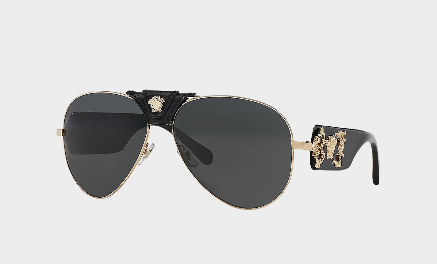 versaceBlack Baroque Sunglasses