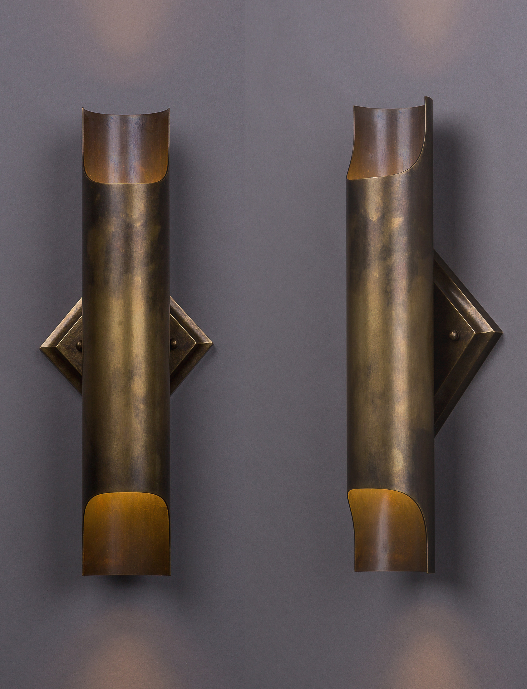 Franco Sconce  Dark antique brass.