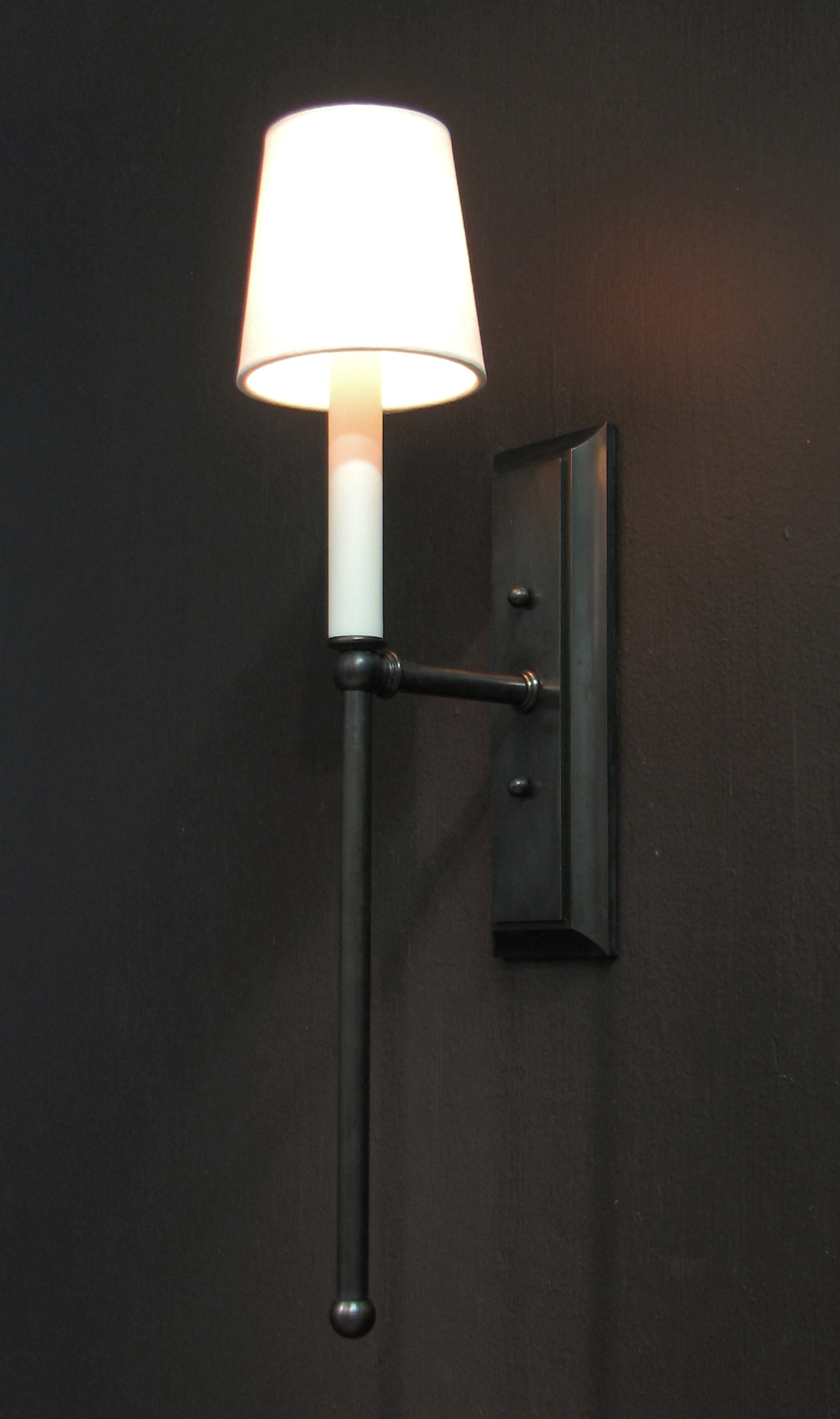 Georgina Sconce  Bronze / 881 white pongee shade.
