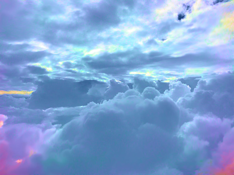 разноцветные облака картинка