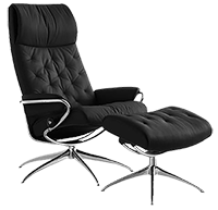 stressless chair and ottoman with star base