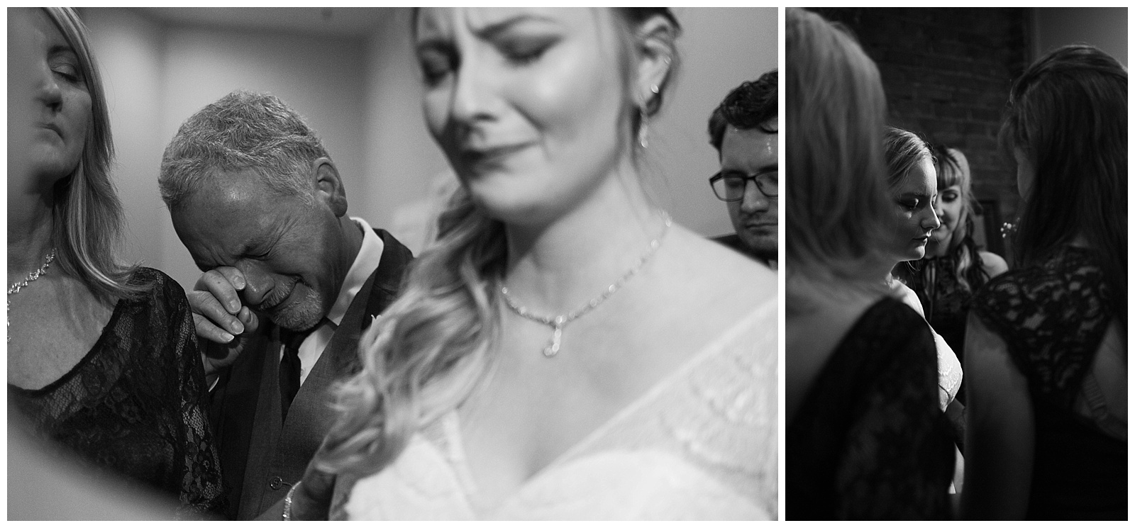 There was not a dry eye in the room during this sweet moment of prayer between Haley's family and friends. Her dad's muffled tears made it hard for us all to compose ourselves!