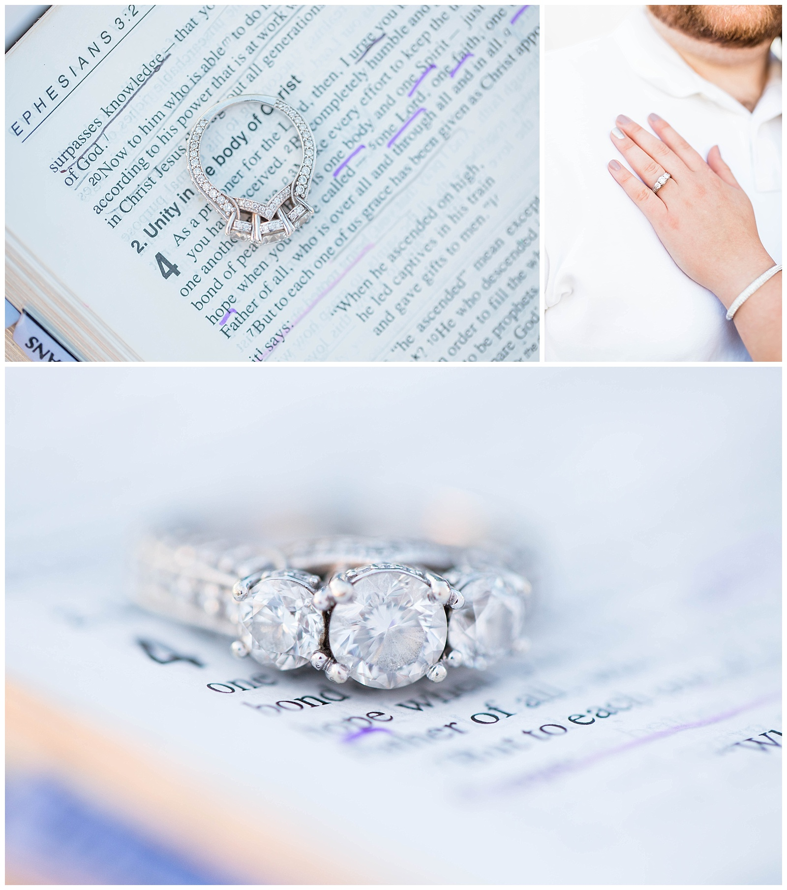 This was so special. We used Liz's mom's bible for these images because it had her handwriting in it. A friend of Liz and Ethan's, as well as a friend of mine also custom designed and handmade her engagement ring! Be sure to check out Drew Hadley's work!