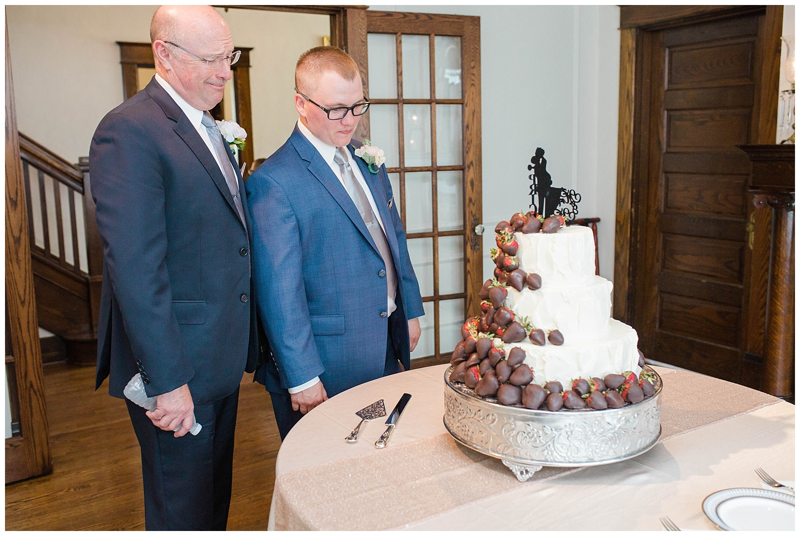 We were ALL giving this look towards the cake all day! I mean, what a beautiful sight. And, when told you have to wait to try it out....;)