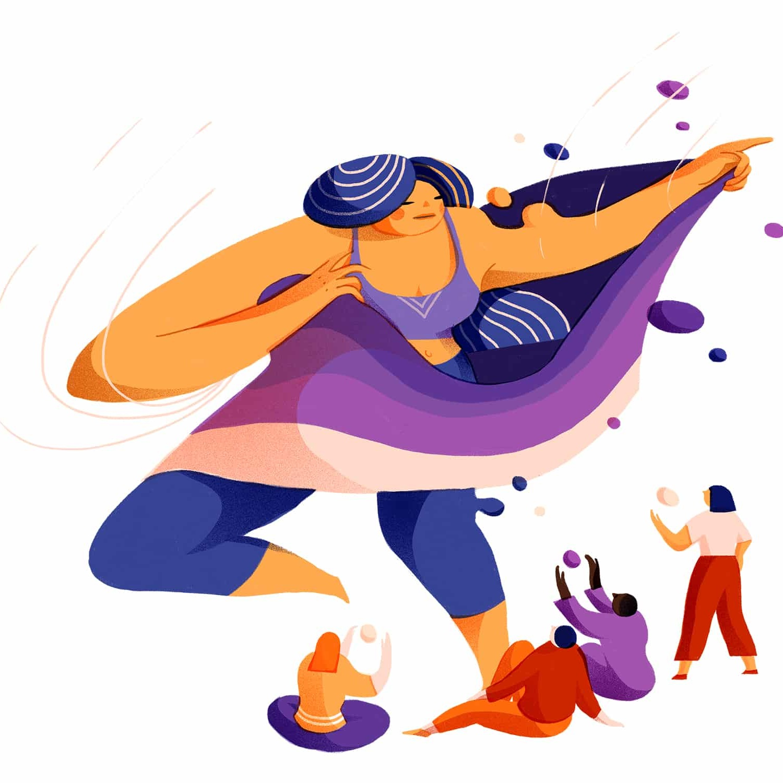 """Work In Process""     Editor  Featuring interviews with:  Annie Wong ,  Diana Reyes ,  Jordan Tannahill ,  Lido Pimienta ,  Liz Ikiriko ,  Michèle Pearson Clarke    Koffler.Digital , Koffler Centre of the Arts, November 2018.  (Illustration by Wenting Li)"
