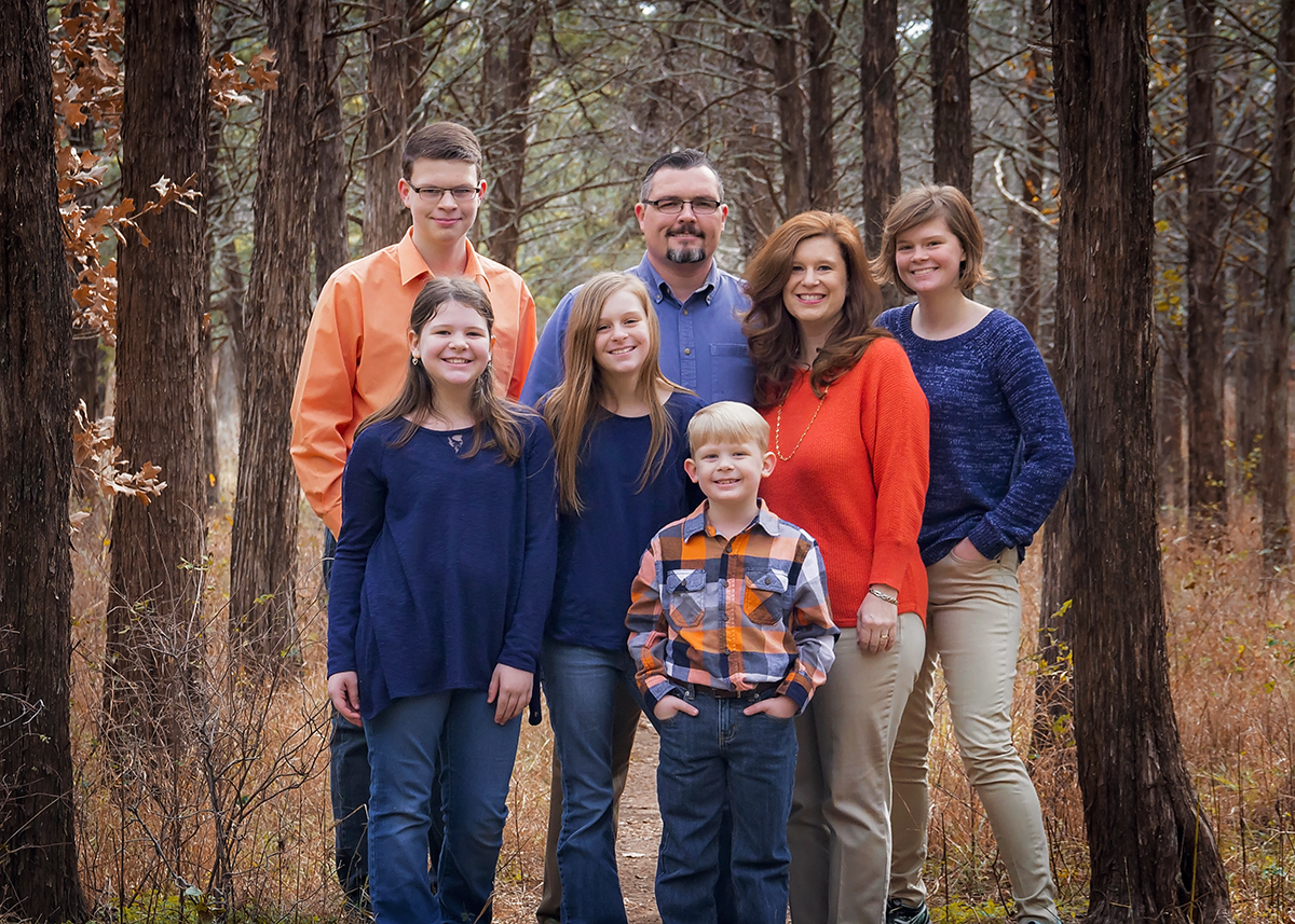 Family Portrait of 7 in Orange and Blue .jpg