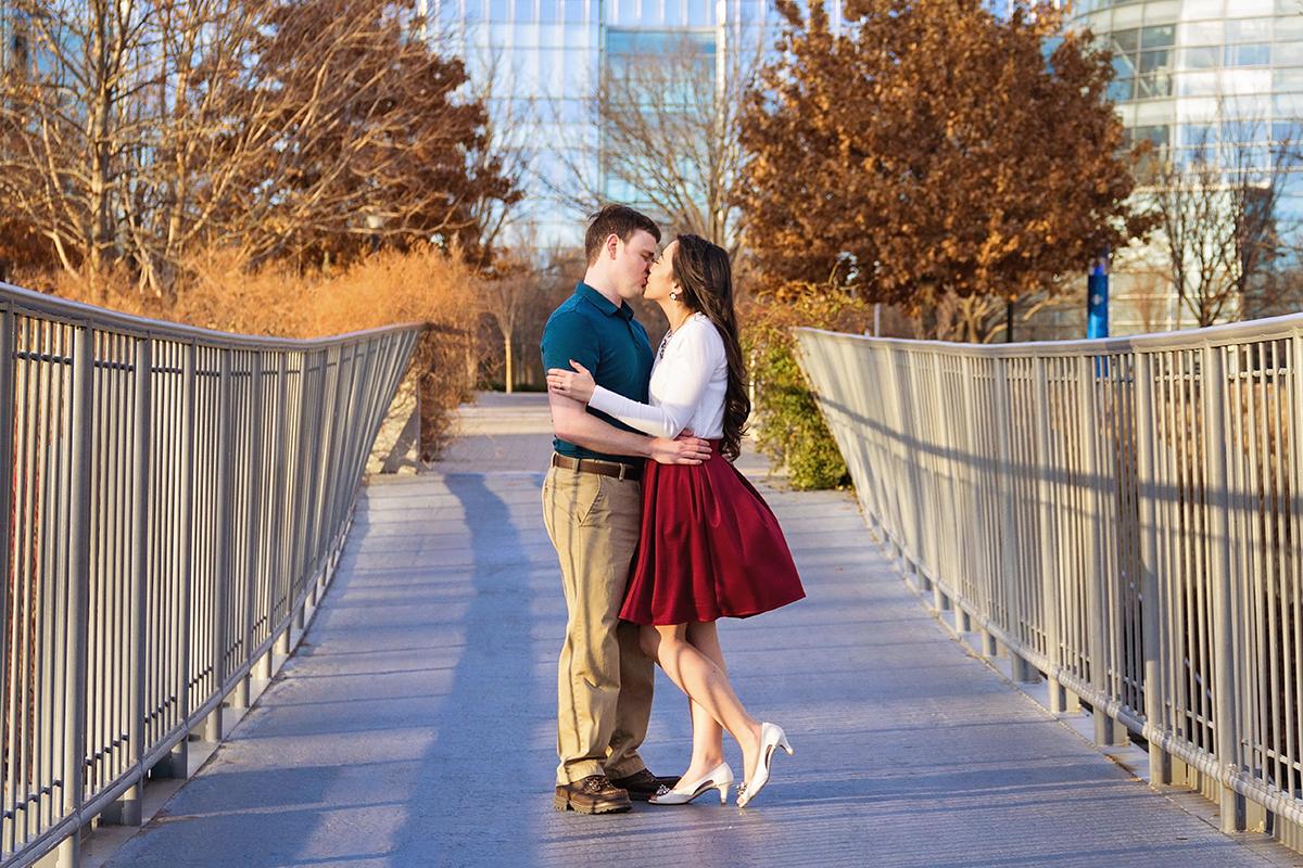 Couple kissing on a bridge in OKC.jpg