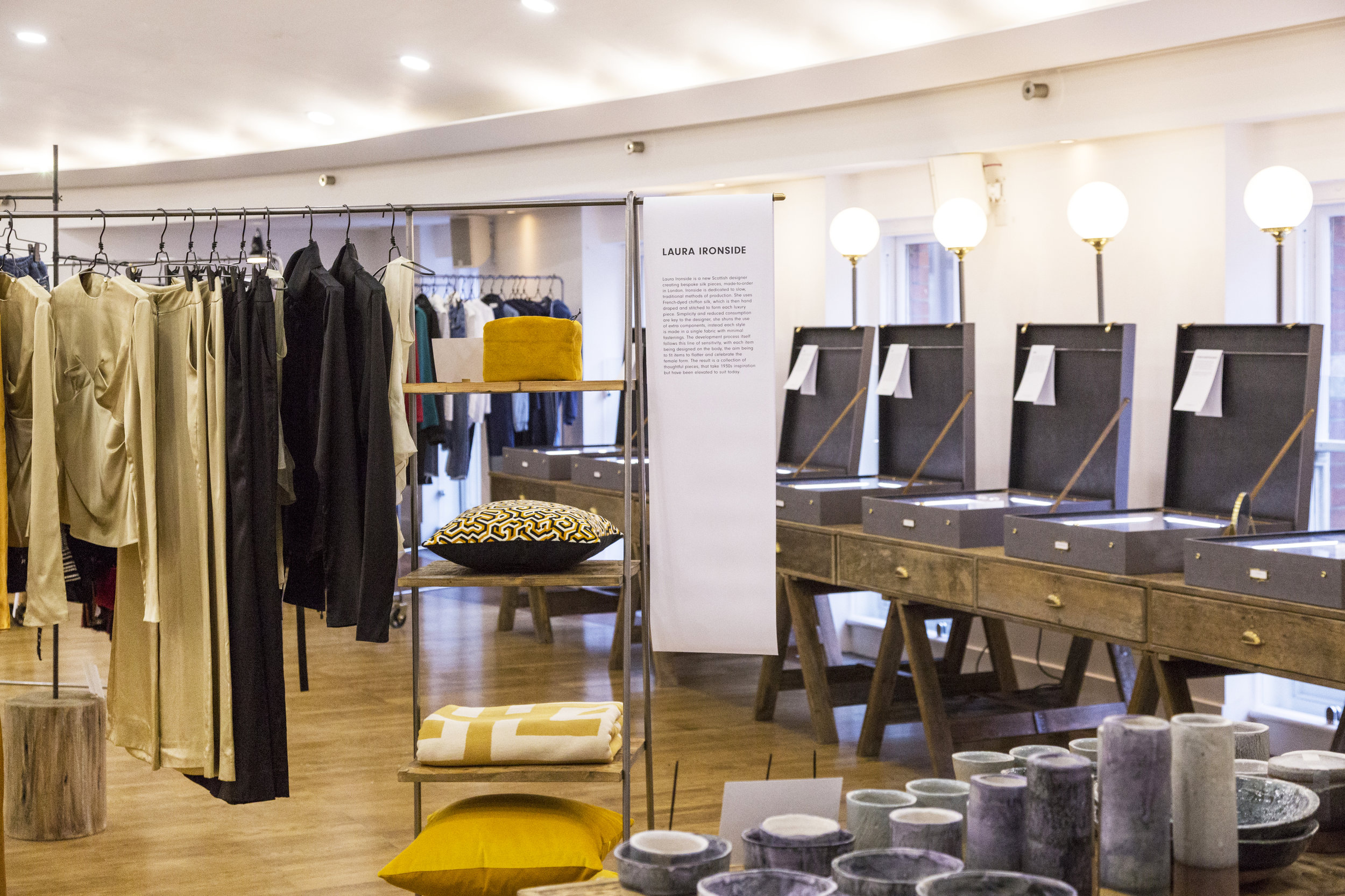 Homeware brand  One Night Eight Five  was beautifully merchandised with our EDIT-01 collection