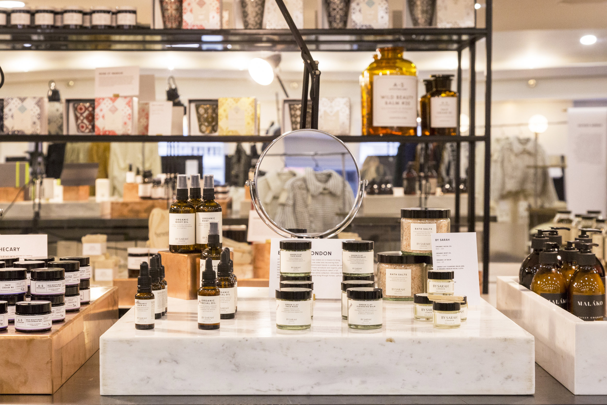 A selection of skincare brands including  A.S Apothecary  and  Honest Skincare