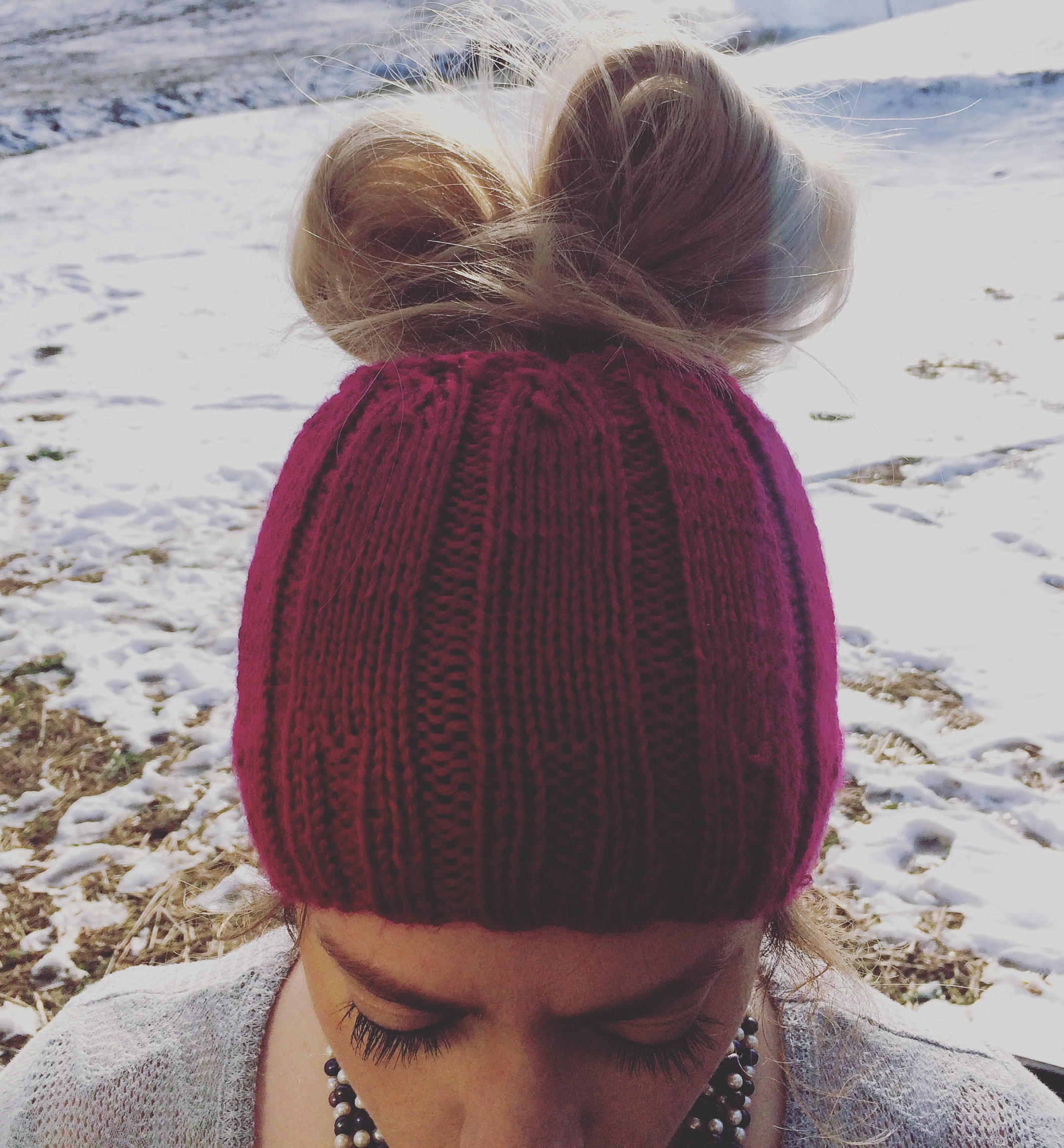 ponytail winter hat