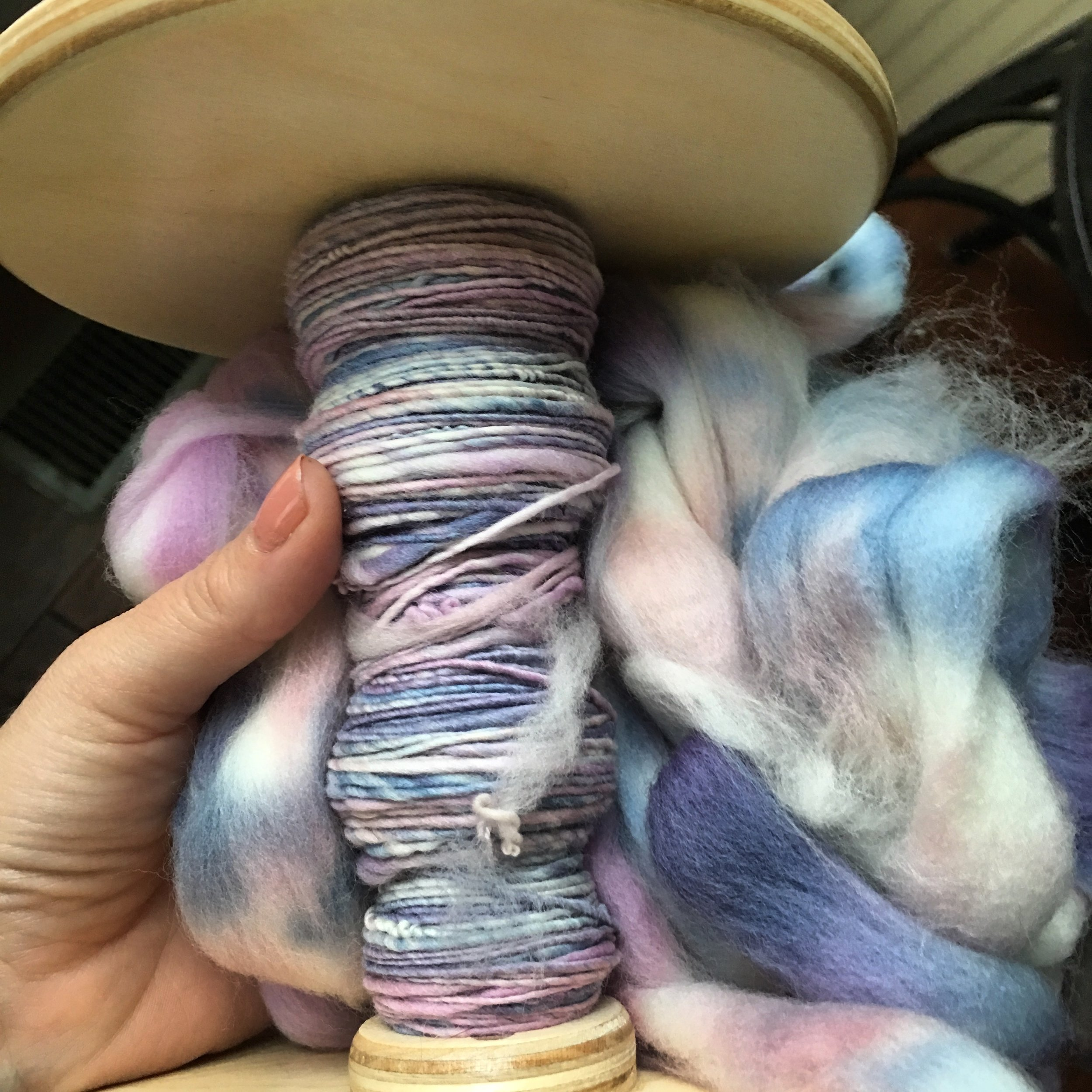 Learn to spin your own dream yarn - Our signature step by step online spinning course.